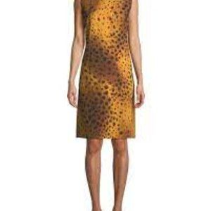 LAFAYETTE 148 dress gold stripes REVERSIBLE SZ MED